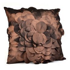 Brown Petal Pillow at Kirkland's  12.99 (sale 9.99)