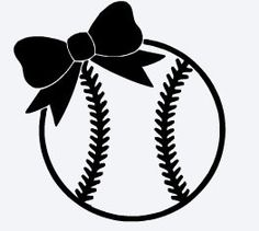 Almost Baseball SEASON! -Baseball with Bow-- Sports Vinyl Decal by fordycedesi. - Almost Baseball SEASON! -Baseball with Bow– Sports Vinyl Decal by fordycedesigns on Etsy - Silhouette Cameo Projects, Silhouette Design, Cricut Vinyl, Vinyl Decals, Cricut Air, Vinyl Crafts, Vinyl Projects, Kentucky Basketball, Sports Basketball