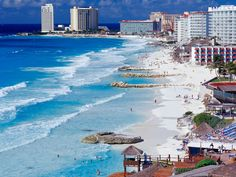 Cancun attracts more tourists then any other city in Mexico; about 3 million people take Cancun vacations annually. Cancun is famous for the incredible beaches, stunning views, access to ancient civilizations and plenty of exciting activity. Vacation Places, Vacation Destinations, Dream Vacations, Vacation Spots, Places To Travel, Places To See, Cancun Vacation, Family Vacations, Mexico Vacation