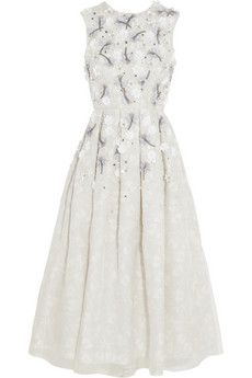 Holly Fulton Embellished printed silk and organza dress | NET-A-PORTER