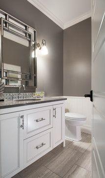 White Vanities contemporary bathroom