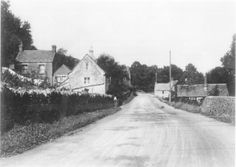 Church cottages Slad Gloucestershire Approx 1926. Via Mrs J Smith