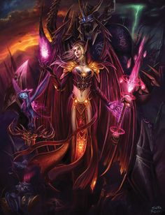 Blood Elf Warlock - Female