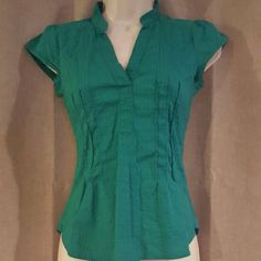 "H&M green blouse Super cute green blouse. In great condition no signs of wear. Length 21"" bust 32"" H&M Tops Blouses"