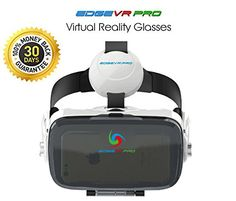 EDGE VR PRO 3D Virtual Reality Headset 3D Glasses VR BOX with Headphone for 4.06.0 Inches IOS Android Smartphones iPhone 6/6 plus Samsung Galaxy S6 Edge Adjustable Focal Distance