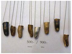 Fingersmycken i silver och brons av Sara Lailasdotter, HDK:s Julmarknad 2013