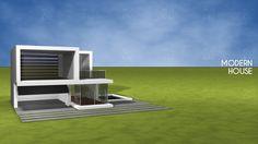 Cinema 4D - Modern house.