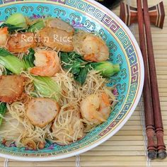 Fried Beehoon with Shrimps and Fish Cakes | Food to gladden the heart at RotiNRice.com
