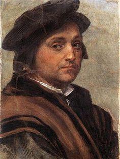Andrea del Sarto - Autoritratto (1528-29) - affresco - Galleria degli Uffizi, Firenze
