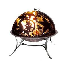"Refresh your well-dressed home for summer with this eye-catching essential, offering style and flair for enviable appeal.Product: Fire bowl, basin, stand and dome lifting rod   Construction Material: Wrought iron and steel  Color: Copper  Features:     Steel dome showcases intricate cut-outs  Durable steel basin is handcrafted  Designed to withstand the elements   Dimensions: 27.2"" H x 30"" Diameter     Note: Assembly required"