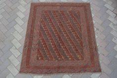 vintage afghan tribal handmade mushvani square rug kilim Turkish rug interior  #Handmade #Tribal