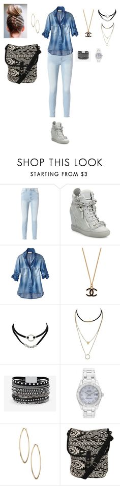 """""""back to school"""" by amberbrink on Polyvore featuring Frame, Giuseppe Zanotti, White House Black Market, Rolex, Lydell NYC and Pilot"""