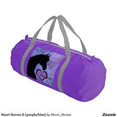 Heart Horses II (purple/blue) Gym Duffel Bag