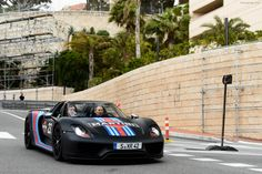 Matte black Martini racing livery Porsche 918 Spyder