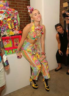 Miley Cyrus At The Jeremy Scott 2015 NYFW Show