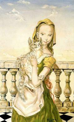 藤田嗣治の猫 - すそ洗い Pictures At An Exhibition, Asian Cat, Crazy Cats, Cat Art, Japanese Art, Great Artists, Art Forms, Creative Art, Art Girl