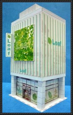 Leaf Bill Building Paper Model is created by paperstructure, a good papercraft for diorama or paper scene. Download the building paper craft here: