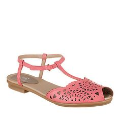 Easy Spirit Gisselle T-Strap Sandals :: Casual Shoes :: Shop now with FootSmart $49.97
