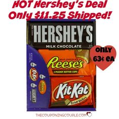 WOW!! Grab a box of Hershey's Candy Bars for only $11.25 shipped! They will go fast at this price! That is only $0.63 each!  Click the link below to get all of the details ► http://www.thecouponingcouple.com/hot-hersheys-bars-deal-only-0-63-each-shipped/  #Coupons #Couponing #CouponCommunity  Visit us at http://www.thecouponingcouple.com for more great posts!