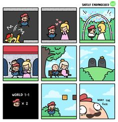 Post with 1989 votes and 141957 views. Tagged with funny, comics, memes, memedump; Shared by Sanzeni. comics and memes that steam my beans Tierischer Humor, Safely Endangered, Funny Jokes, Hilarious, Fun Funny, Funny Gifs, Funny Comic Strips, Super Mario World, Video Game Memes