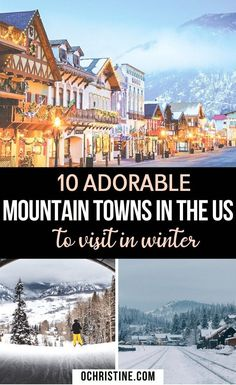 Best Winter Vacations, Vacations In The Us, Mountain Vacations, Dream Vacations, Vacation Spots, Winter Getaways, Vacation Places In Usa, Christmas Getaways, Christmas Travel