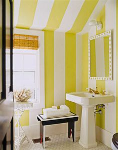 bathrooms walls + yellow