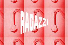 Ragazzi is yelled across the table in Something Creative Co's identity for the Italian eatery — The Brand Identity Pizza Branding, Restaurant Identity, Restaurant Restaurant, Italian Restaurant Logos, Italian Logo, Food Branding, Co Design, Modern Logo Design, Graphic Design