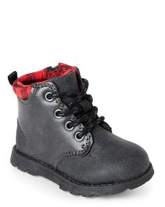 Carter's (Toddler Boys) Black & Red Belfast Lace-Up Boots