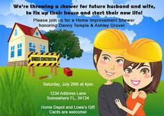 Couples Home Improvement Shower Invitation by PlayfulPrints, $25.00