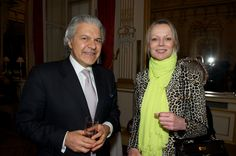 Princess Helene of Yougoslavia with Mr Vartkess Knadjian at the Backes & Strauss cocktail party held at the British Ambassador's residence - Paris  For more information, visit www.backesandstrauss.com
