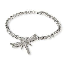 Sterling Silver CZ Dragonfly Charm Bracelet * For more information, visit image link. (This is an affiliate link and I receive a commission for the sales)