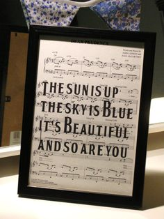 Beatles Framed Sheet Music Art Print Dear by VinylDeconstructions, £19.99