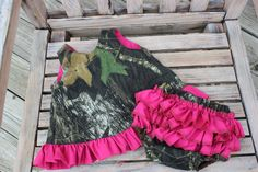 Camo+Tie+Back++Dress+with+Bloomer+by+RosiePosiesCloset+on+Etsy,+$50.00