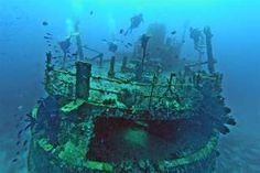 antilla wreck, aruba. not sure if i'll ever get to deep-sea dive, but the idea of exploring a sunken ship is a dream to me. (the titanic would be best).