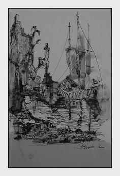 Konrad Biro Art - ink drawing