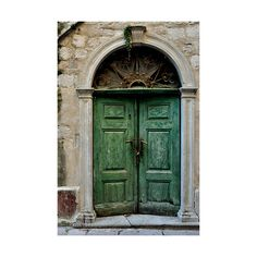 The Colour Blog ❤ liked on Polyvore featuring backgrounds, pictures, photos, doors and green