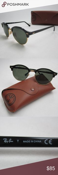 03a9f39c2c RayBan RB4246 901 Polarized Sunglasses STL508 RayBan Clubround RB4246 901  Polarized Unisex Sunglasses STL508