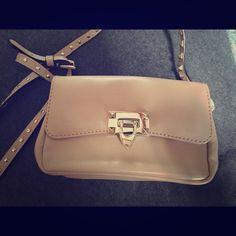 Authentic Valentino rockstud leather flap bag 100% authentic Valentino Rockstud collection leather flap shoulder bag. Never worn! Beautiful cream color. Valentino Bags Shoulder Bags