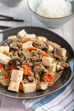 Braised Tofu with Pork and Mushroom #tofu #groundpork #shiitake #oystermushroom #mushroom #chineserecipe #weeknight #dinner #dinnerrecipe | The Missing Lokness Magnolia Bakery Banana Pudding, Pork Mushroom, Banana Dessert, Stuffed Mushrooms, Stuffed Peppers, Thing 1, Best Appetizers, Pudding Recipes, Copycat Recipes