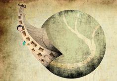 Illustratie van Fatinha Ramos uit 'Op zoek naar Yori'