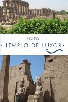 O Templo de Luxor no Egito. Construído por Amenófis III (também conhecido como Amenhotep III). Ramsés II aumentou o Templo de Luxor. Luxor é uma cidade do sul do Egito. O templo de Luxor é o maior museu ao ar livre do mundo.  #viajarcorrendo #luxor #egito #templodeluxor