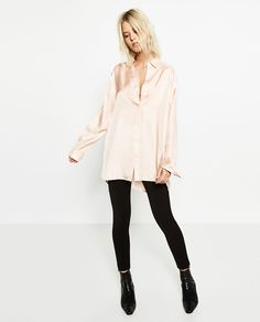 BELLED SLEEVE SHIRT #joinlife-View all-TOPS-WOMAN   ZARA United States