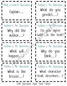 Student Led Questioning. Or for Literature Circles. What if one student was author and others asked these questions?