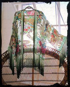 pinned with Pinvolve Kimono 'Bohemian Like You' Gypsy Style, Boho Gypsy, Hippie Style, Bohemian Style, Kimono Fashion, Boho Fashion, Fashion Outfits, Estilo Hippie, Hippie Chic