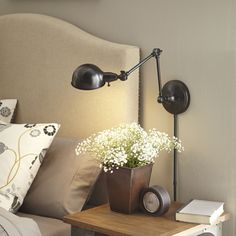 Allen Roth H Bronze Swing Arm Wall Mounted Lamp With Metal Shade At Lowe S Create The Perfect Reading Spot This From Embelton