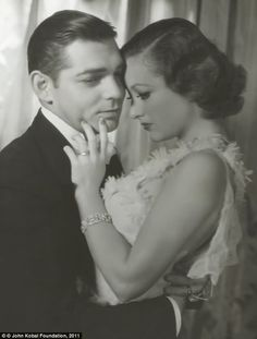 Clark Gable and Joan Crawford in a photograph for Dancing Lady in 1933 by George Hurrell