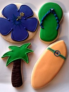 Smiley loves the beach and these awesome beach themed cookies!