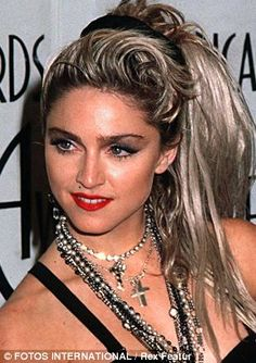 Image result for madonna hairstyle dark roots