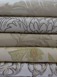 Grey toned linens - nice patterns...