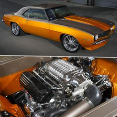 1969 Camaro resto-mod Maintenance of old vehicles: the material for new cogs/casters/gears/pads could be cast polyamide which I (Cast polyamide) can produce Custom Muscle Cars, Chevy Muscle Cars, Custom Cars, Chevrolet Camaro, Chevy Camaro, Corvette, Hot Rods, Us Cars, Car Wheels